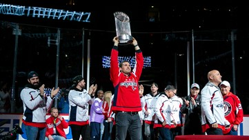 Title town: Capitals honor  Nationals World Series win during Calgary Flames game
