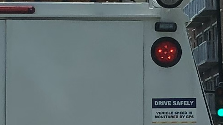 Sticker spotted on the back of a Pepco truck
