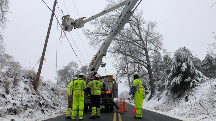 Power outage concerns in Virginia as another winter storm comes to the DMV
