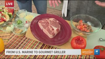 This U.S. Marine turned grillmaster explains why he uses salt and sugar instead of pepper on his steaks