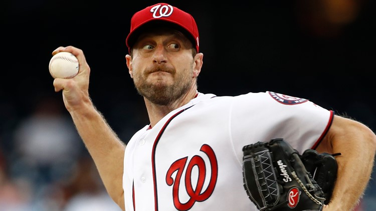Nationals Scherzer Baseball