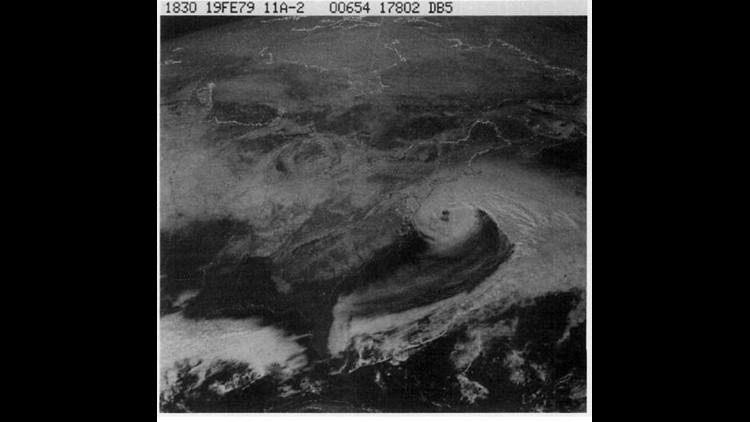 GOES Satellite Image - 1979 Presidents' Day Storm