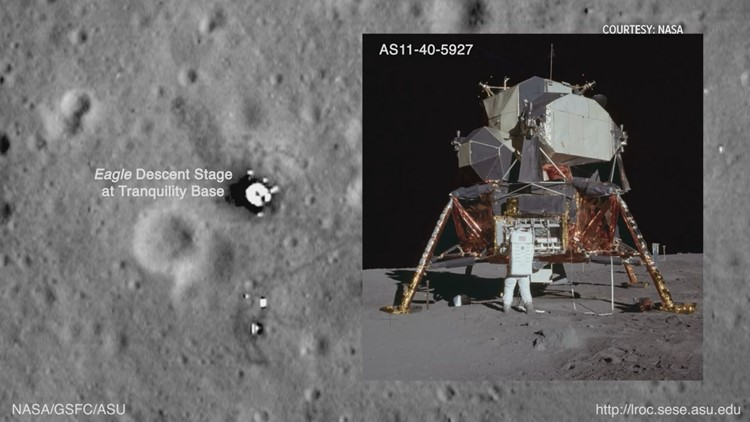 Lunar Module of Apollo 11 landing site