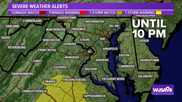 Severe T-storm Watch south of DC & MD for now