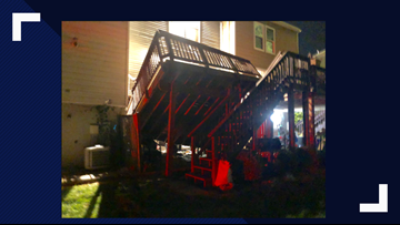 100+ people evacuated after deck collapses at Germantown home