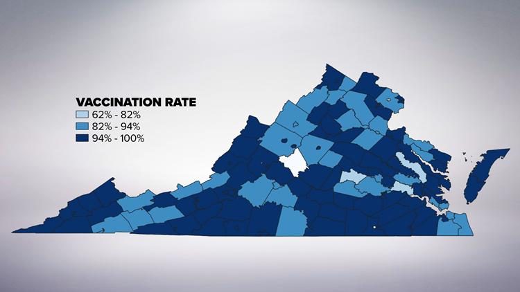 Virginia MMR Vaccination Rates