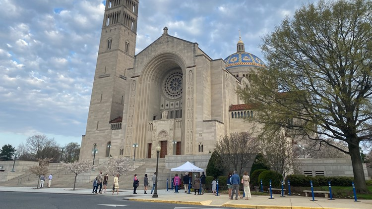 In-person Easter worship returns to the Basilica after COVID forced virtual Mass in 2020