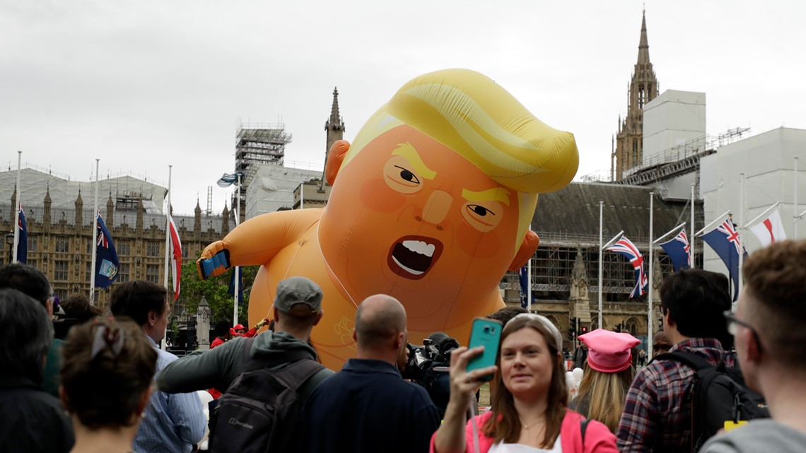 Protesters want to fly 'Baby Trump' balloon during Trump's 4th of July address on the National Mall