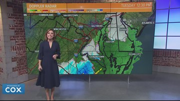 Timeline: Rain mixes with a few flakes Tuesday in the DMV