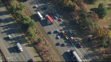 RAW: Woman's body found on shoulder of I-95 in Maryland