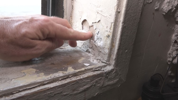 Unmitigated lead paint contamination