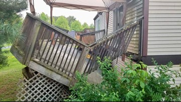 Several injured after deck collapse in Germantown, Md.