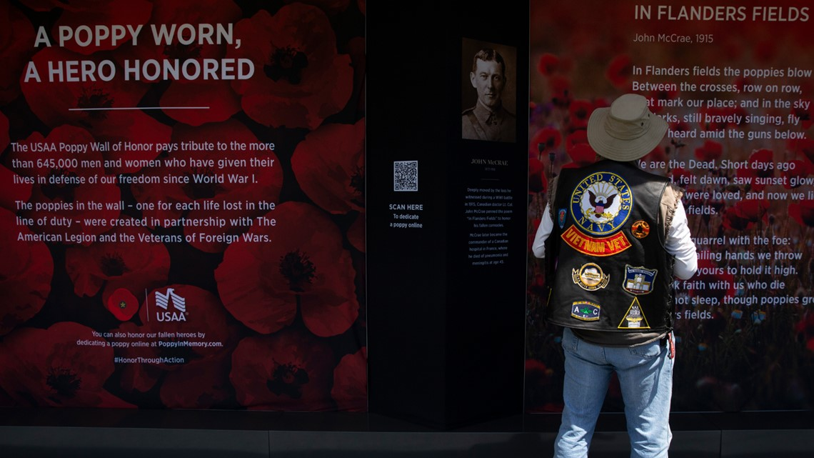 USAA Poppy Wall of Honor remembers lives lost in service