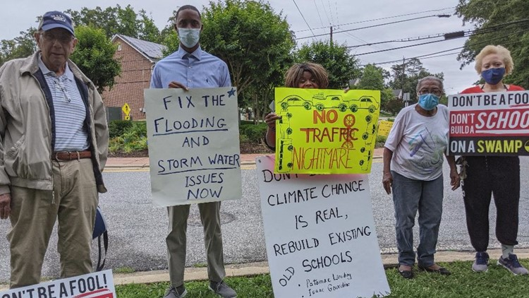 Homeowners sign petition expressing concerns of new Prince George's school location