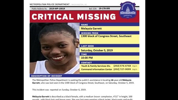 16-year-old Melaysia Garrett