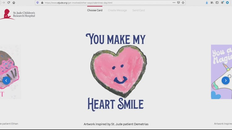St. Jude Children's Research Hospital accepting virtual valentines for patients this holiday