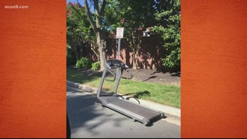 A treadmill spotted on the street