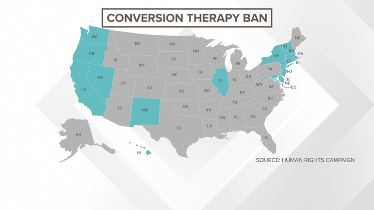 States that ban conversion therapy