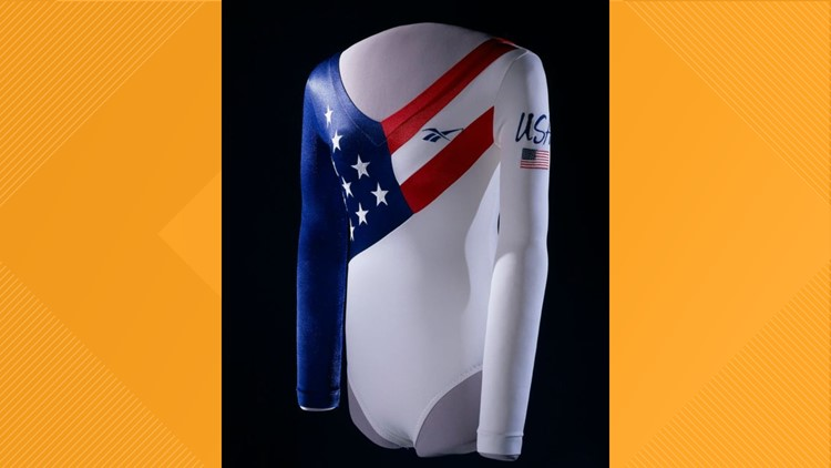 Dominique Dawes' Olympic leotard on display at the Smithsonian