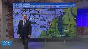 Winter Weather Advisory Saturday in the DMV: Snow, sleet and freezing rain make  slippery roads