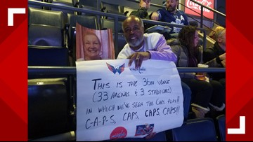 Caps fan completes emotional journey after wife dies
