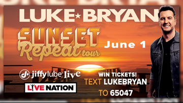 Win tickets to see Luke Bryan at Jiffy Lube Live