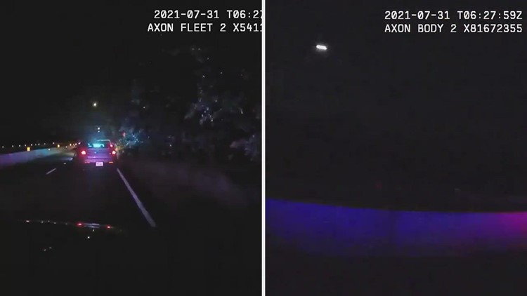 Video: Fairfax County officer struck by vehicle during traffic stop