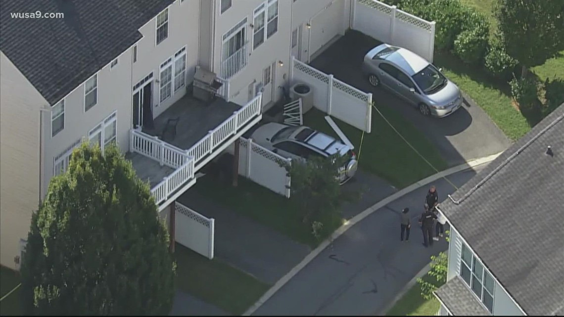 2 hospitalized after falling from a 2-story balcony in Maryland