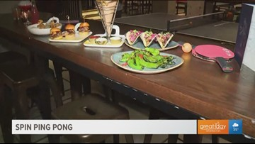 New ping pong spot, SPIN DC, offers wide variety of food and beverages