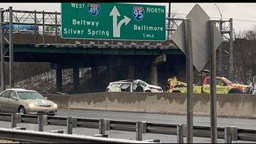 1 dead, 2 injured after SUV spins out, crashes into tractor-trailer on Outer Loop of Beltway in College Park