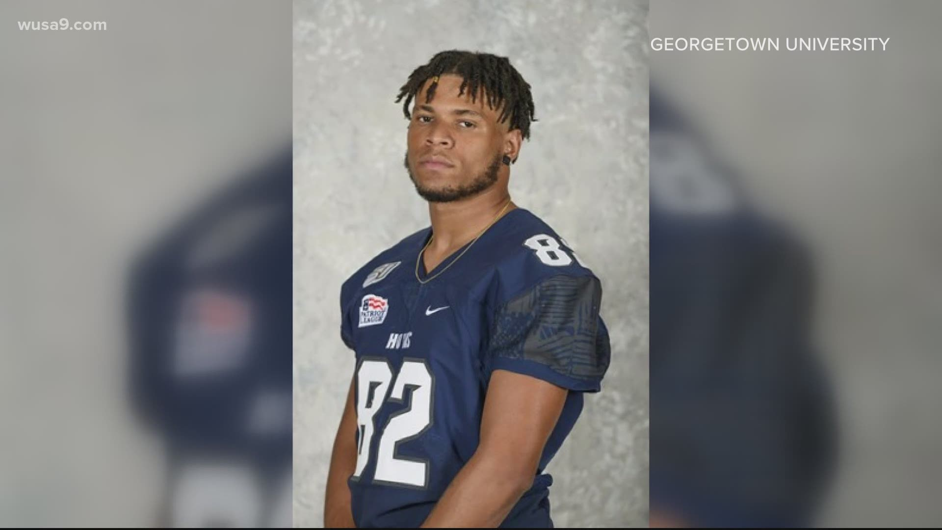 Georgetown University football player arrested, accused of murder