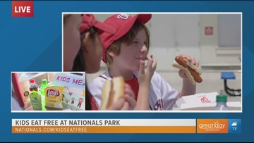 Take the entire family to Nationals Park where kids can eat free
