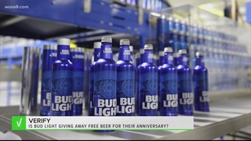 VERIFY: Is Bud Light giving away free beer for their anniversary?