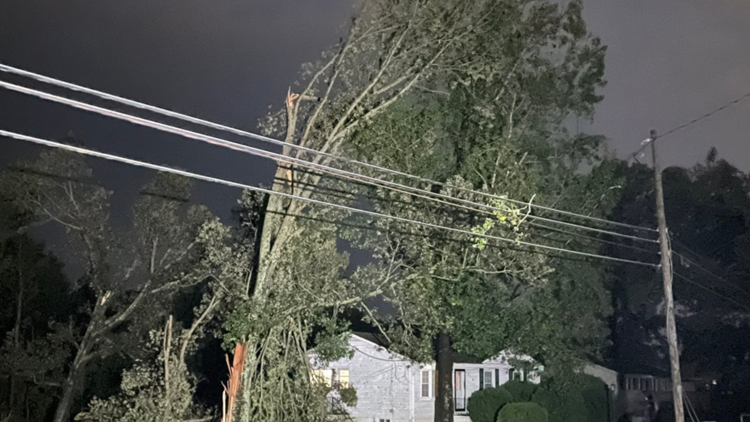 Thousands lose power, trees and power lines fall due to severe thunderstorms