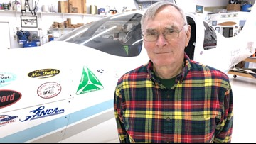 This 69-year-old Virginian pilot flew around the world in a plane he built himself