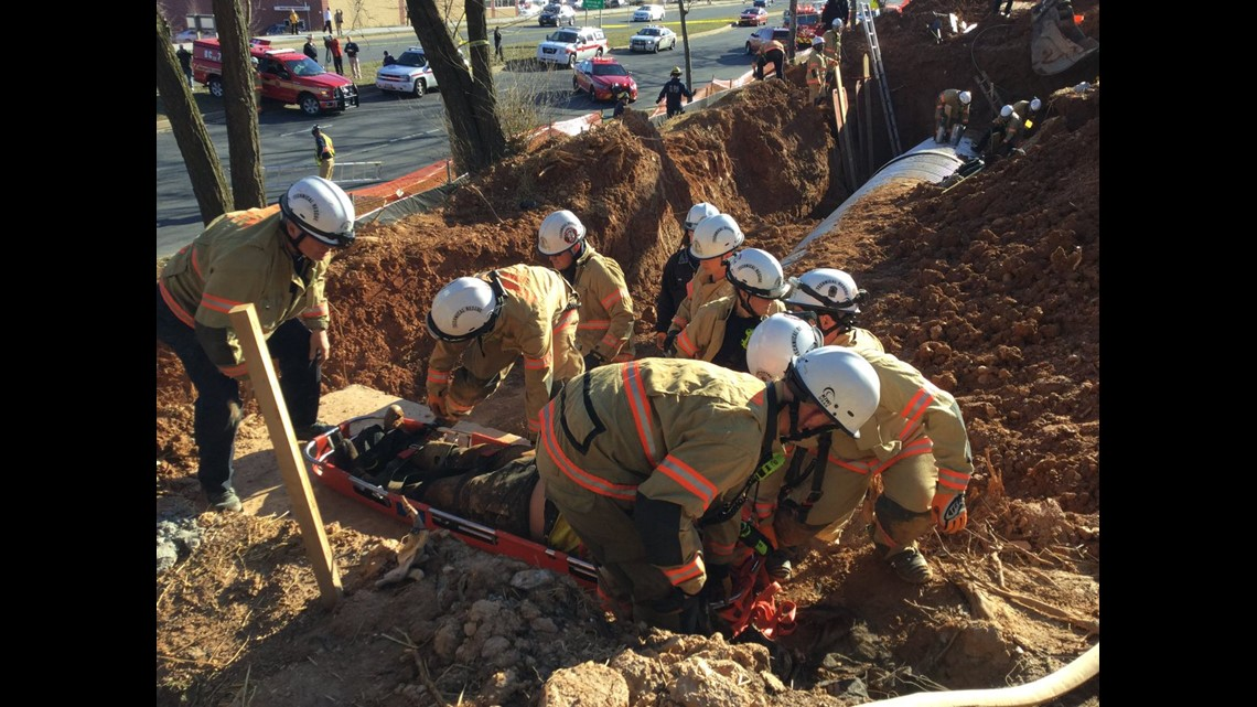 Crews Rescue Worker Trapped In 14-foot Ditch At Dunkin