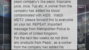 VERIFY: Was HIV infected blood put into Pepsi products