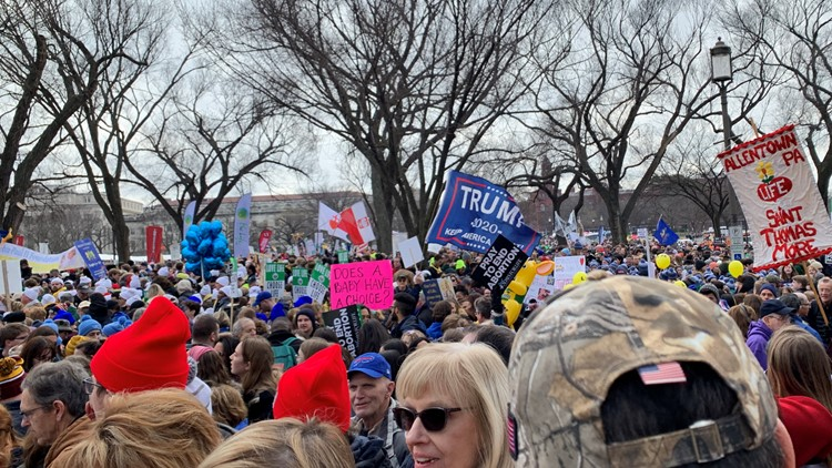President Trump speaks at March for Life