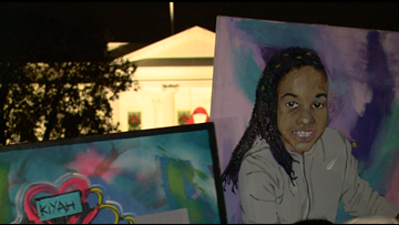 'I miss her beyond words' | Family of Makiyah Wilson, 10-year-old girl shot in DC, protests gun violence in front of White House