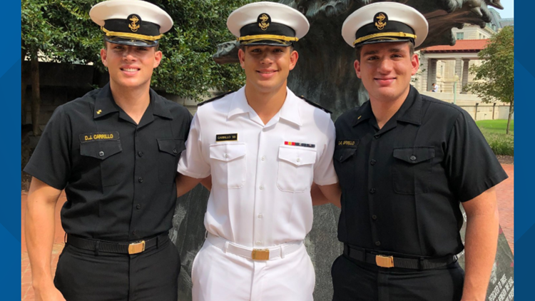 Midshipmen who died pictured with his brothers