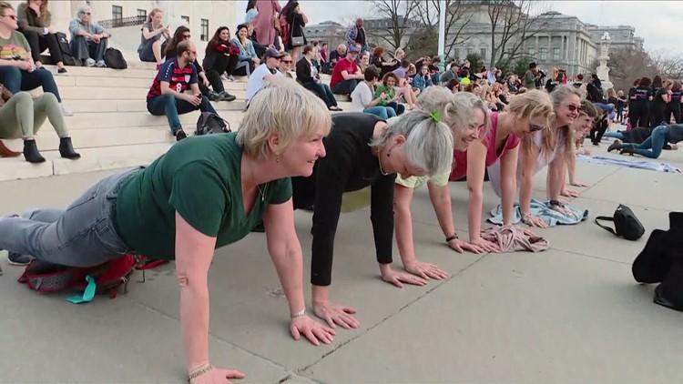 Dozens plank at the U.S. Supreme Court