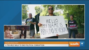 Activist completes 700-mile walk to protest political corruption nationwide
