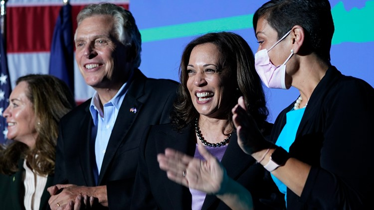 Vice President Kamala Harris campaigns for Terry McAuliffe in Prince William, as chances of Republicans reclaiming Virginia governor's mansion grow