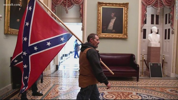 Plea may be coming for Delaware man who carried Confederate flag through the Capitol