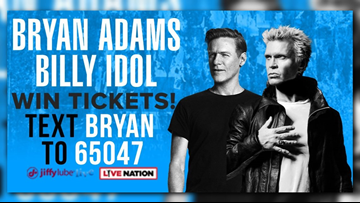 Win tickets to see Bryan Adams and Billy Idol