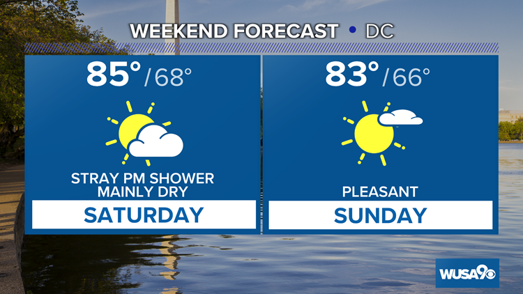 Outside plans this weekend? Here's your forecast