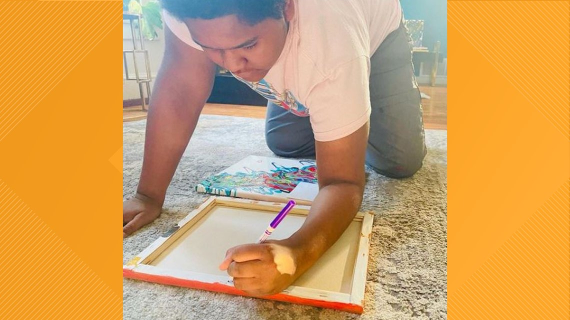13-year-old with Autism uses art to cope with the pandemic
