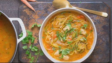 Spicy Chicken Zoodle Soup