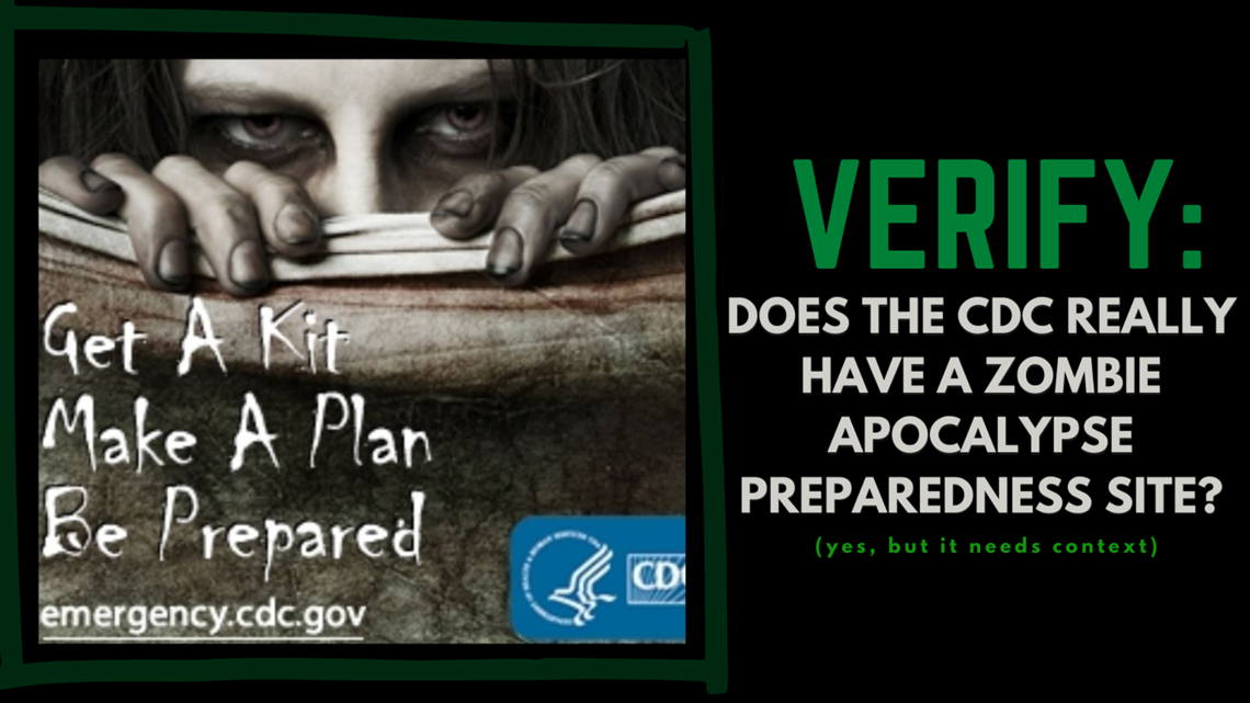 CDC zombie apocalypse 2021 warning: Is it real? Latest fact check |  wusa9.com