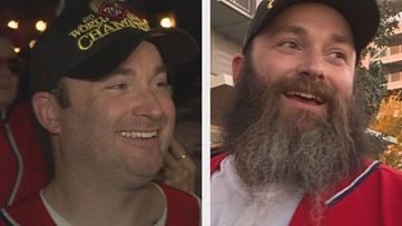 Nats fan shaves beard to end 7-year bet